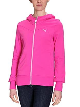 PUMA Sweatjacke Large Logo Hooded (raspberry rose/pink lady)