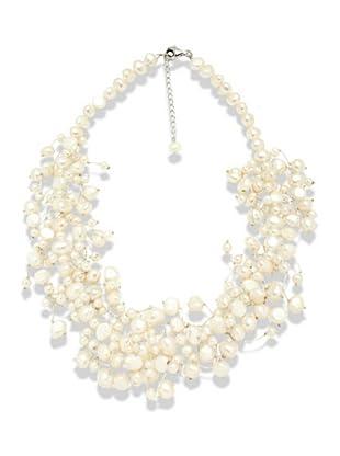 Valero Pearls 120310 - Collar de mujer de plata con perla cultivada de agua dulce, 45 cm