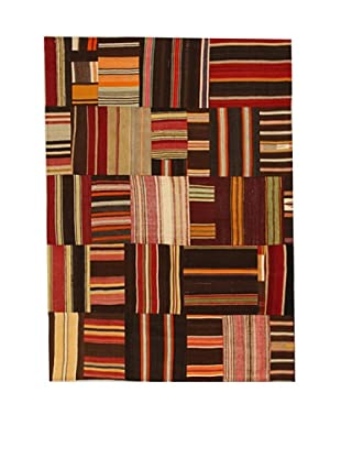 Design Community by Loomier Alfombra Tr Anatolia Patch Kilim Multicolor 210 x 150 cm