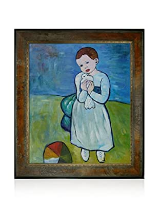 Pablo Picasso Child Holding a Dove Framed Oil Painting, 20 x 24