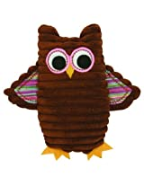 Stephan Baby Cordy Owl Corduroy Rattle, Pink By Stephan Baby