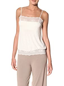 Eberjey Women's Sabrina Cami with Built-In Bra (Ivory)