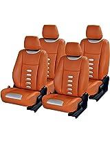 AutoDecor SA-001 Orange Leatherite Car Seat Cover for Maruti Alto 800 (Pack of 4)