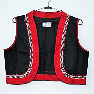 The Sewing Machine Red Black Cotton Jacket
