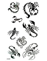 Spestyle New And Fashion Design Black And White Spider Fake Temp Tattoo Stickers