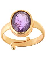 Astrology Paradise purple Gold Plated Round Astrological Ring For Unisex