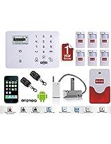 Wireless GSM SMS IR Home Security Alarm System Burglar Intruder DIY Kit Autodial Shutter Sensor