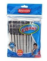 Reynolds - Champ Ball Pen Black Set Of 10