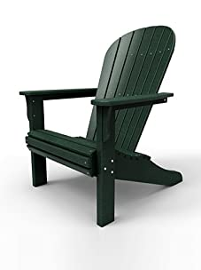 Malibu Outdoor Furniture Jamestown Adirondack Chair (Turf Green)