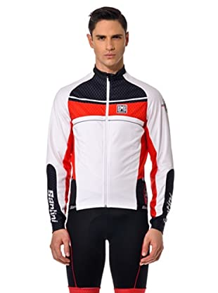Santini Shirt Zip (Weiß/Rot/Schwarz)