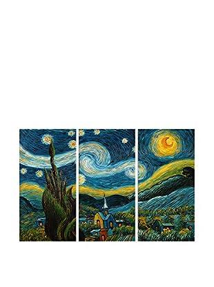 Arte Dal Mondo Ölgemälde auf Leinwand 3er Set Van Gogh Notte Stellata