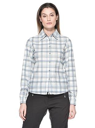 Salewa Camisa Molignon Pl W L/S Srt (Blanco / Azul Cielo)