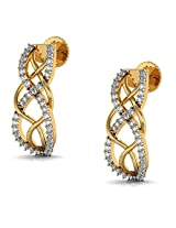 Avsar Real Gold and Diamond jammu Earrings AVE166
