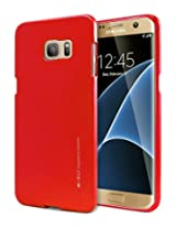 Galaxy S7 EDGE Case, [Ultra Slim Fit] Goospery® i-Jelly Case [Metallic Finish] Premium TPU Case Cover [Anti-Yellowing / Discoloring Finish] for Samsung Galaxy S7 EDGE - Metallic Red