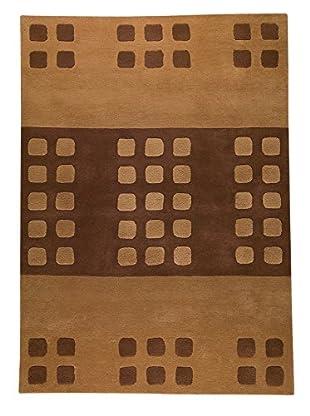 MAT The Basics Domino Rug, Beige/Brown, 5' 6