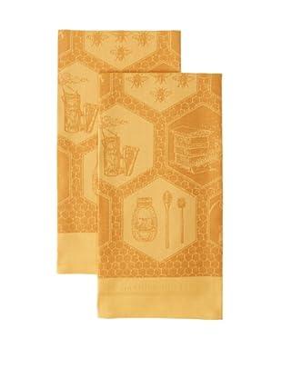 Garnier-Thiebaut Set of 2 Miel Ocre Kitchen Towels