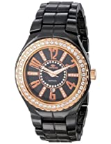 Oniss Paris Women'S ON807-Lrg Blk Lafayette Collection Ladies, High Tech Ceramic Case and Band, Swiss Movement...