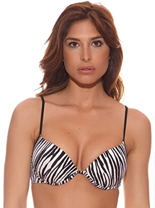 R&S Fashion Sujetador Bikini Naomi (Blanco / Negro)