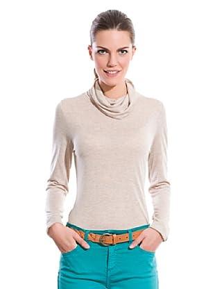Cortefiel Camiseta Cuello Vuelto (Tostado)