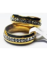 Trendy Lions Stainless steel 18K Gold Plated Wedding Ring for Men and Women (6.75)
