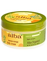 Alba Botanica Papaya Mango Body Cream 6.5-Ounce Jar (Pack of 2)