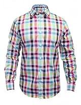 Arrow Light Pink Casual Checks Shirt