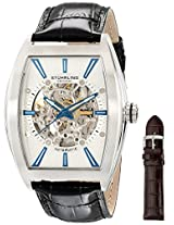 Stuhrling Original Men's 182C3.33152 Leisure Millennia Master Automatic Skeleton Silver Tone Watch Set
