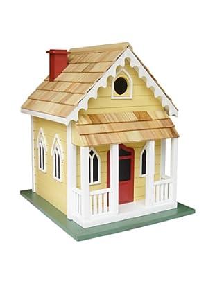 Home Bazaar Chatham Cottage Birdhouse, Yellow/Red Door