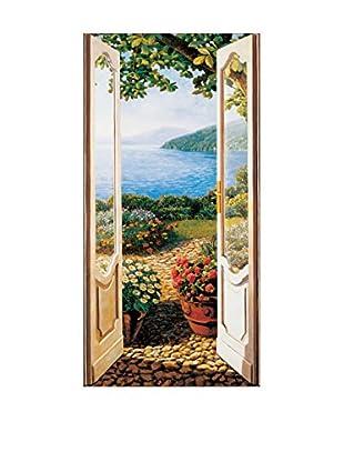 ArtopWeb Panel de Madera Del Missier Giardino Sul Lago 50X100 cm