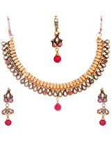 Nimble Golden Metal choker Necklace Set for Women