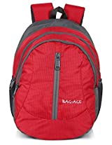 Bag-Age Happy Large School Backpack (Red)