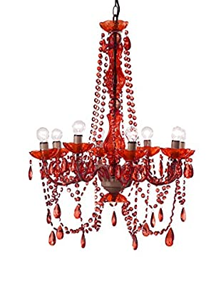 Home Ideas Lámpara De Araña Lampadario Rosso Rojo