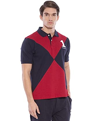Hackett Polo Casual (Marino / Rojo)