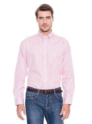 Brooks Brothers Camisa Vestir Steeven (Fresa / Blanco)