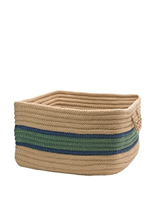 Colonial Mills Garden Band Rectangular Basket (Myrtle Green/Jasmine)