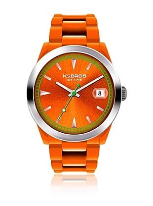 K&BROS Reloj 9539 (Naranja)