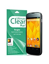 [Ultimate Clear Plus] Google Nexus 4 Rearth Ringbo Screen Protector for [All Carrier International GSM Cdma Unlocked] Cover Film [2 Front 1 Back 3 Pack] Updated Proximity Sensor Cut Out!