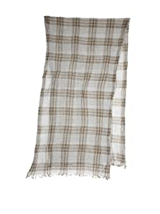 Amicale Men's Track Plaid Scarf (Green/Heather Grey)