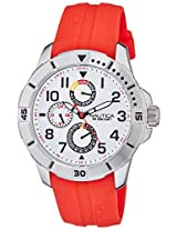 Nautica Sports Chronograph White Dial Men's Watch - NAI12506G