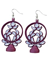 Designer's Collection Paper Quilling Ear Rings for Women-DSERA002_B
