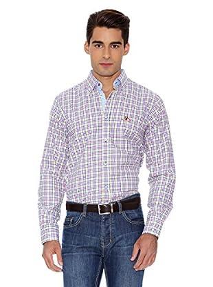 La Española Camisa Fitted Check (Amarillo / Fucsia)