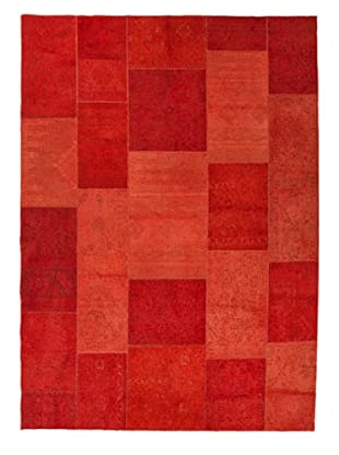 Jaipur Rugs Transitional Solid Pattern Wool Knotted Rug (Red/Orange)