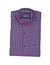 Fashionbean Men's Pink Party Wear Shirt
