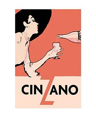 Orange Blackhat Cinzano Giclée Canvas Print