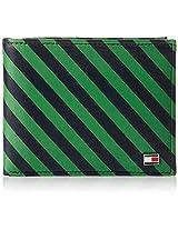 Tommy Hilfiger Niagara Green With Stri Men's Wallet (8903496058321)