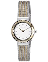 Skagen End-of-Season Analog White Dial Women's Watch - 456SGS1I