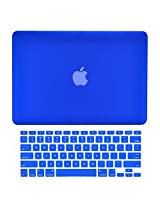 TopCase 2-in-1 Rubberized Hard Case Cover and Keyboard Cover for 14.5 - Inch Macbook Pro - Royal Blue