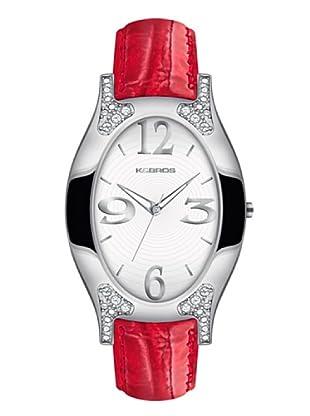 K&BROS 9157-2 / Reloj de Señora con correa de piel rojo