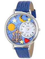 Whimsical Watches Unisex U1810008 Libra Royal Blue Leather Watch
