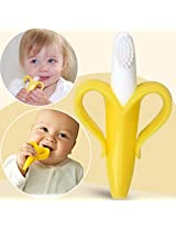 Safe Baby Teether Teething Ring Banana Silicone Toothbrush